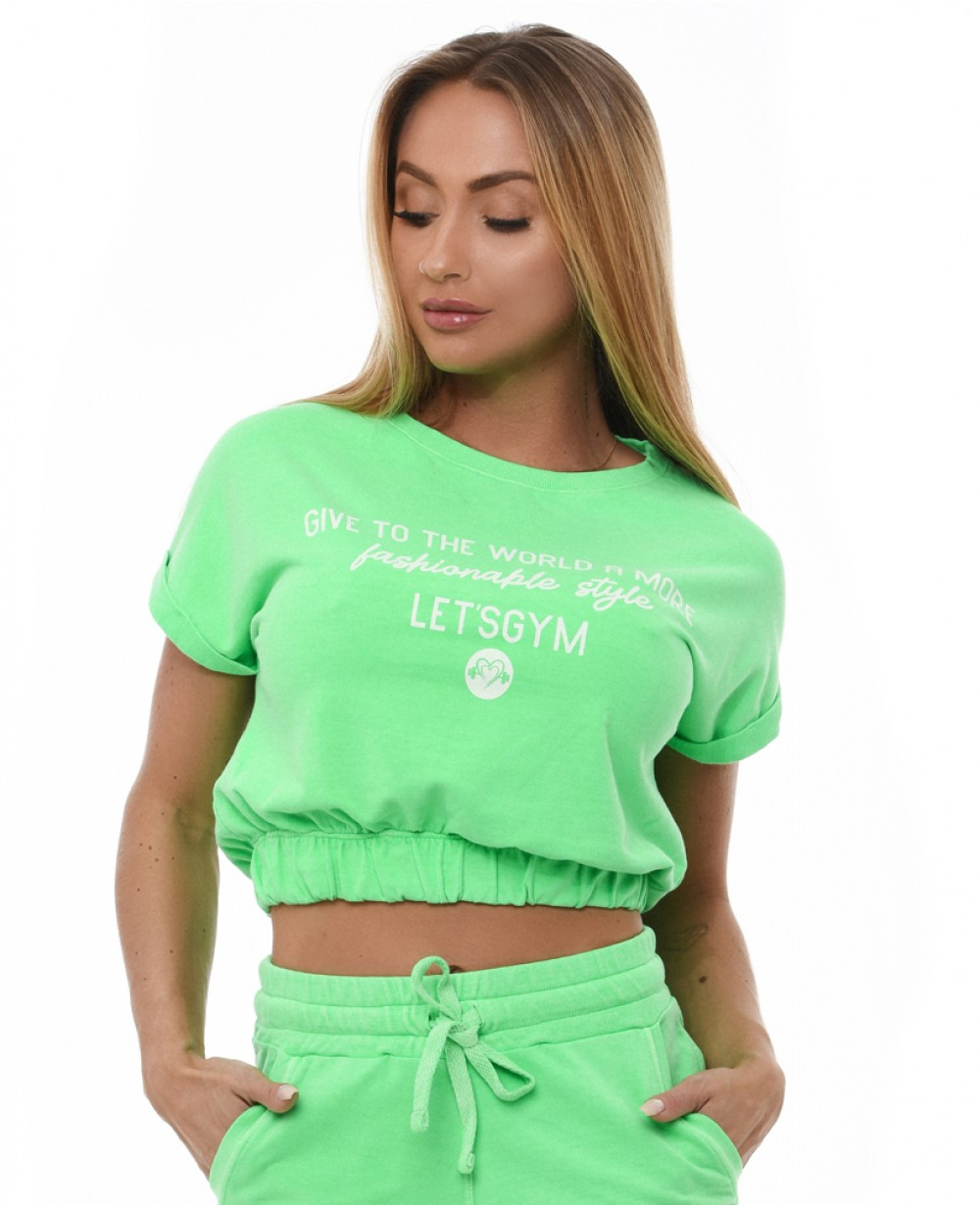 Cropped Let'sGym Neon Fashion