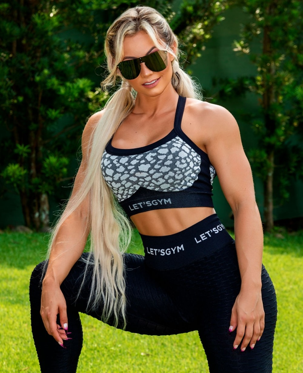 Top Let'sGym Seamless Leopard