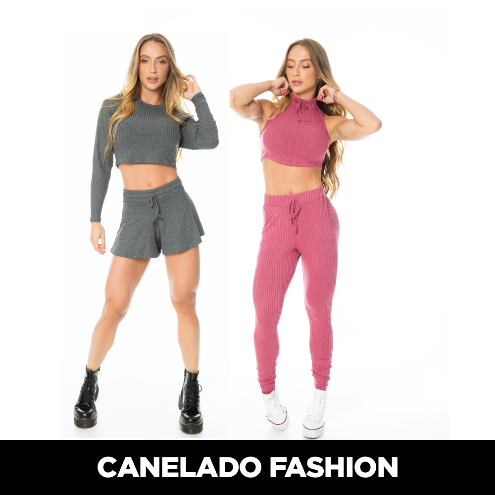 CONJUNTO CANELADO FASHION